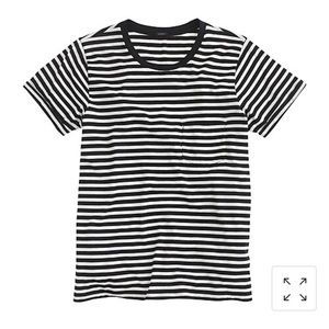 J.Crew Rolled Sleeve Pocket T-Shirt In Stripe-S